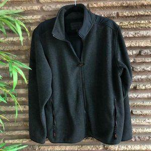Banana Republic Gray Sherpa Fleece Full Zip Jacket